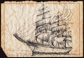 Old Ship by FazzyPencil