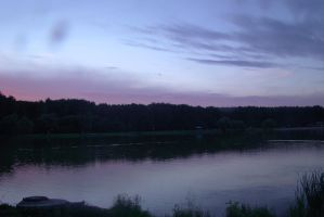 Lilac evening sky 2 by Panopticon-Stock