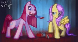 MLP-pinkamena+fluter monster by pmo0908