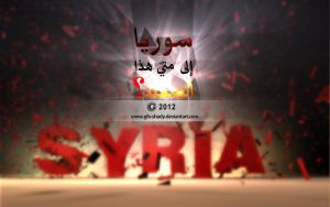 Syria to when this silence? by gfx-shady