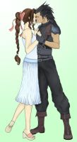Aerith and Zack - FFVII CC by SteveGarbage