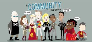 A Community of Thrones by vicorintian