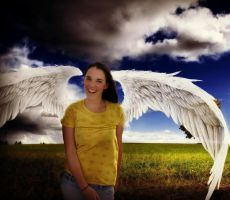 An angel amongst mear mortals by Cholamina
