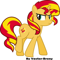 Sunset Shimmer walking away by Vector-Brony