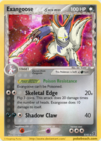 Exangoose Holo Card by Exate