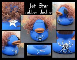 Jet Star rubber duckie by maskedzone