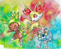 New Pokemon Starters by PenutKitty