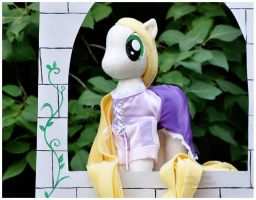 MLP - Tangled's Rapunzel in pony plush form 4 by mihoyonagi