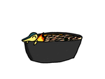 Cyndaquil in hot and sour glass noodles by laopokia