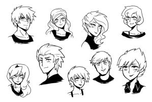 Next Gen Humanized Head Shots (older) by kilala97