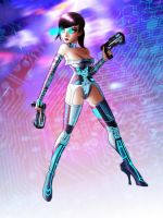 cyberspace girl by raulovsky