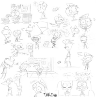 So. Many. Sketches. D8 by SecretagentG