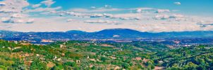 Panoramic view from Perugia by alessandrobianco