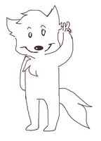 Wolf with peace sign animation [CLICK TO SEE] by FunkyDreamer