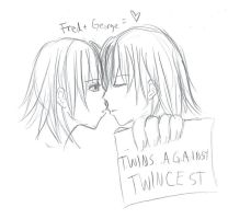 twins against twincest by Mie-tanuki