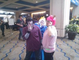 Marshal Lee, Ice Queen, and Prince Gumball by jasoncrazyfangirl