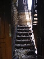 Old stock burned down stairs by shanethemainmanstock
