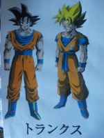 Dragonball Z - Goku Normal / Super Sayan by TriiGuN