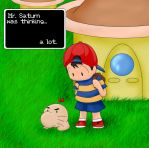 Mr. Saturn is thinking by happygoluckygod