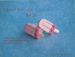 Pink/Yellow/Blue Popsicle Stud Earrings by Wintaria