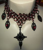 Red And Black Gothic Cross by kinyo-spoons