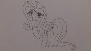Fluttershy is oh so sure by okaboka