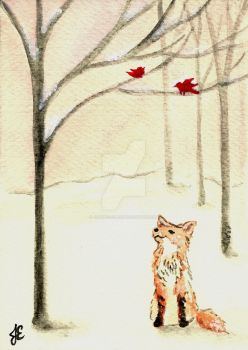 Fox and Birds by Justine-Ehlers