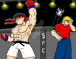 Ryu in the Octagon! by ragnavlade