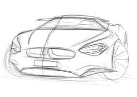 BMW sketch by dyrborgdesign