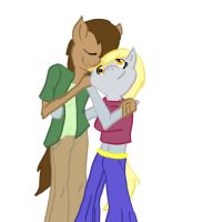 Derpy and Doctor Whooves Humanized by KiwiLeeScipio