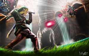 Link vs Zant wallpaper 1 by marcosbaruco