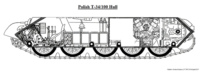 Polish T-34/100 (1955) T-44 Inspired Hull by withinamnesia
