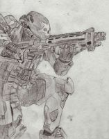Halo Reach Emile by MechSquadron