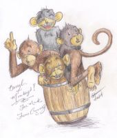 Barrell of Monkeys by Zimmette
