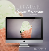 Wallpaper Lemon Ice cream by Isfe