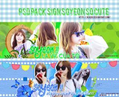 PSD Pack Sign Soyeon by JICA by jica2k1