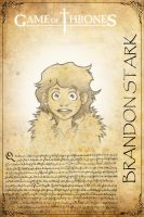 Brandon Stark Game of Thrones by H3IR