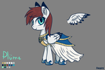 Plume OC Pony by Arkwys