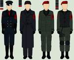 Uniforms: Police, Officials, Soldiers by MouseDenton