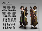 Artea Character Sheet by Skence