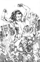 She-Hulk Smash by MahmudAsrar