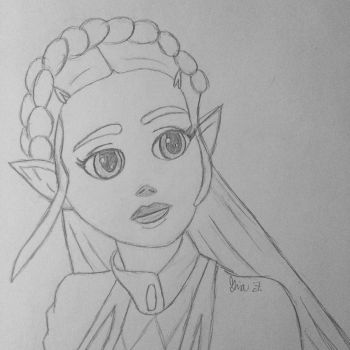 Breath of the Wild Princess Zelda by LOZRocksmysocks77