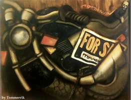 motorcycle painting by TOMMERVIK