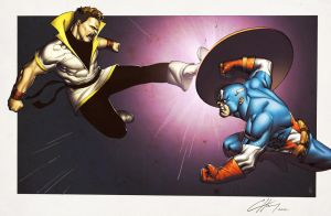 Karate Kid vs Captain America by spidermanfan2099