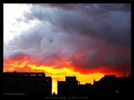 Burning skyline by Nightline