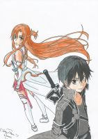 Kirito And Asuna by Chibilory