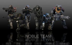 HALO REACH:  NOBLE TEAM by spartan283