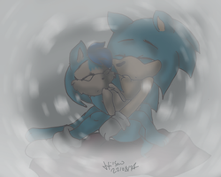 Sonic and Chloe by Hollsterweelskitty