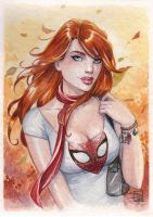 Mary Jane watercolor by Sabinerich