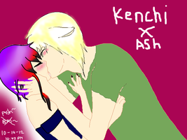 Ash X Kenchi by bassie-michelle